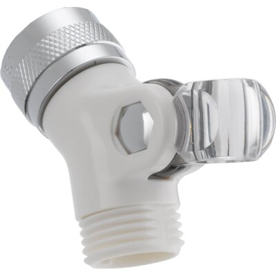 Brass Pin Mount Swivel Connector For Handshower Finish: White