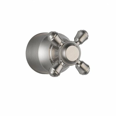 Cassidy Single Cross Bath Diverter / Transfer Valve Handle Kit Finish: Brilliance Stainless