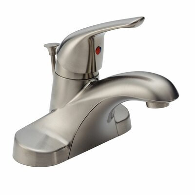 Foundations Centerset Single Handle Bathroom Faucet with Drain Assembly and Diamond Seal Technology Finish: Brilliance Stainless
