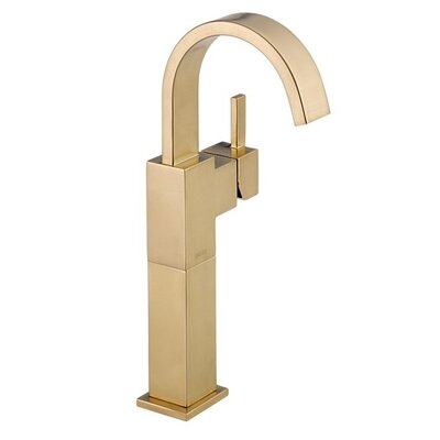 Vero Single Hole Vessel Bathroom Faucet with Riser Finish: Brilliance Champagne Bronze
