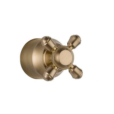 Cassidy Single Cross Bath Diverter / Transfer Valve Handle Kit Finish: Brilliance Champagne Bronze