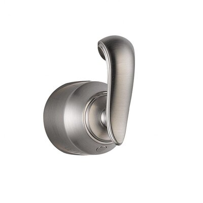 Cassidy Single French Curve Bath Diverter / Transfer Valve Handle Kit Finish: Brilliance Stainless