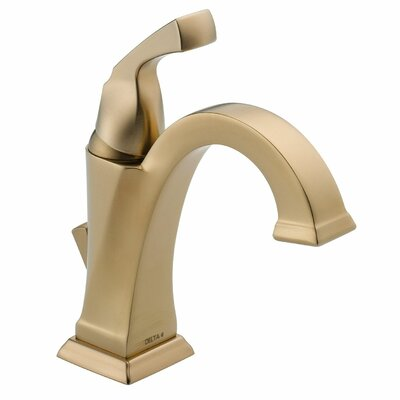Dryden? Single hole Single Handle Bathroom Faucet with Drain Assembly and Diamond Seal Technology Finish: Brilliance Champagne Bronze
