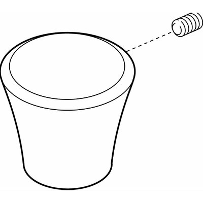 Diverter Single Knob Handle Kit with Set Screw Finish: Chrome