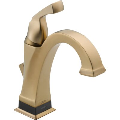 Dryden? Single hole Single Handle Bathroom Faucet with Drain Assembly Finish: Brilliance Champagne Bronze