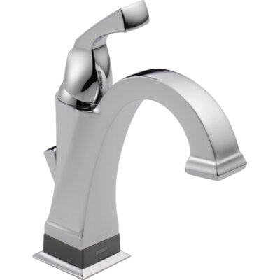 Dryden Standard Bathroom Faucet Lever Handle with Drain Assembly Finish: Chrome