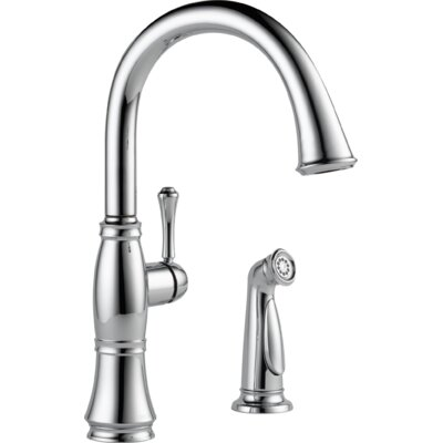 Cassidy Single Handle Kitchen Faucet with Side Spray Finish: Chrome
