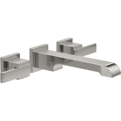 Ara Two Handle Wall-Mount Lavatory Faucet Finish: Brilliance Stainless