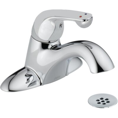 Single Handle Centerset Lavatory Faucet with Grid Strainer Flow Rate: 0.35 gpm @ 60 psi, 1.3 L/min @ 414 kPa