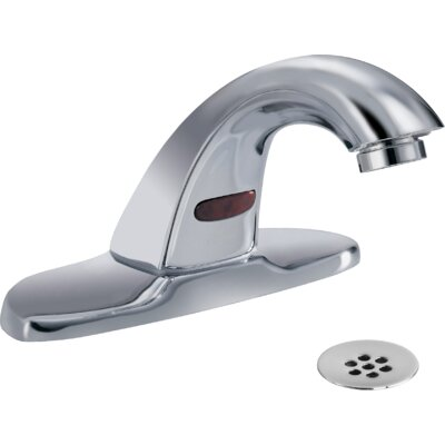Electronic Battery Lavatory Faucet with Grid Strainer