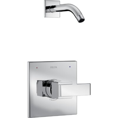 Ara Shower Trim with Lever Handle Finish: Chrome
