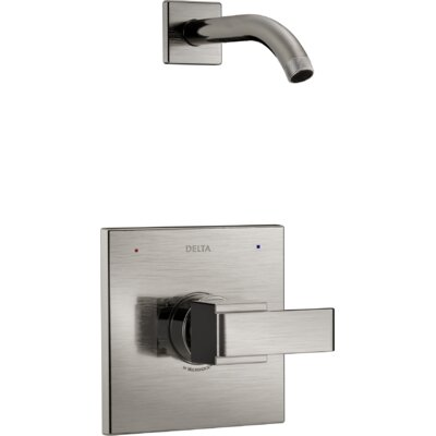 Ara Shower Trim with Lever Handle Finish: Brilliance Stainless