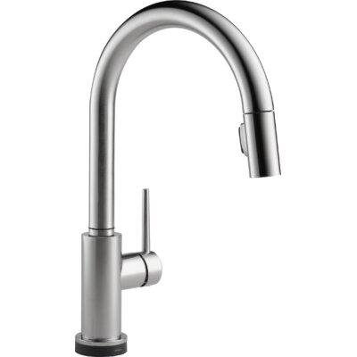 Trinsic� Pull Down Touch Single Handle Kitchen Faucet with LED Light Finish: Arctic Stainless