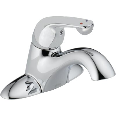 Single Handle Centerset Lavatory Faucet with Less Pop-Up Drain