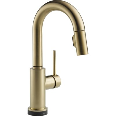 Trinsic� Kitchen Touchless Single Handle Pull Down Bar Faucet Finish: Brilliance Champagne Bronze