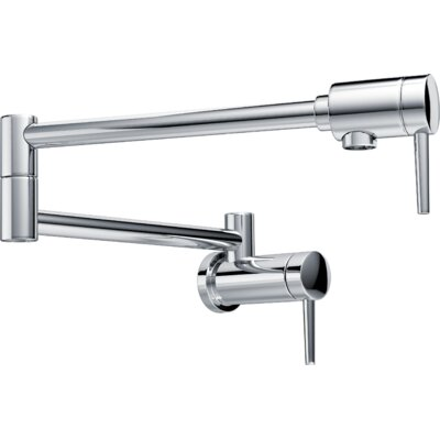Single Hangle Wall Mount Pot Filler Faucet Finish: Chrome