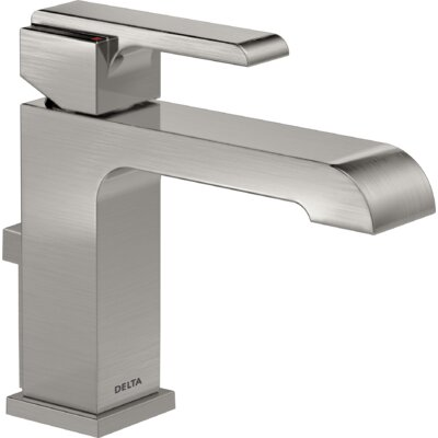Ara Single Handle Centerset Lavatory Faucet with Pop-Up Drain Finish: Brilliance Stainless