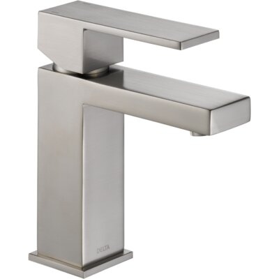 Ara Single Handle Single Hole Lavatory Faucet with Drain Finish: Brilliance Stainless