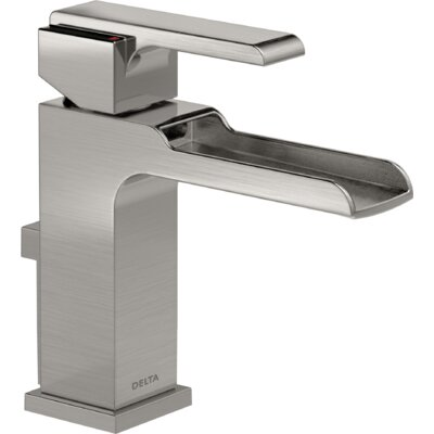 Ara Single Handle Centerset Lavatory Faucet with Channel Spout and Pop-Up Drain Finish: Brilliance Stainless