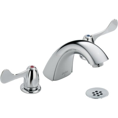 Two Handle Widespread Lavatory Faucet with Grid Strainer