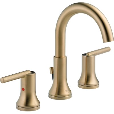Trinsic� Bathroom Widespread Double Handle Bathroom Faucet with Drain Assembly and Diamond Seal Technology Finish: Brilliance Champagne Bronze