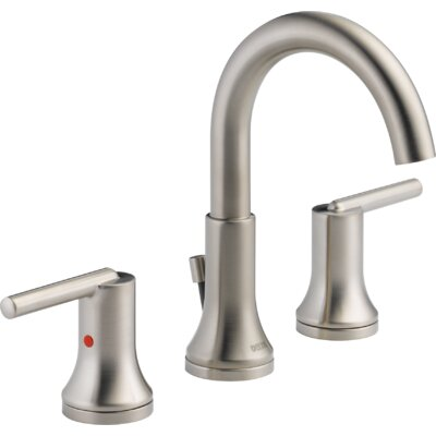 Trinsic� Bathroom Widespread Double Handle Bathroom Faucet with Drain Assembly and Diamond Seal Technology Finish: Brilliance Stainless