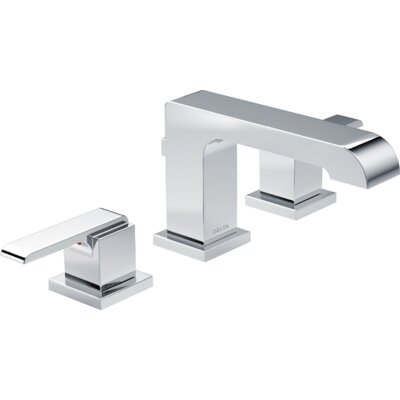 Ara Standard Bathroom Faucet Lever Handle with Drain Assembly Finish: Chrome