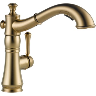 Cassidy Single Handle Pull Out Standard Kitchen Faucet Finish: Brilliance Champagne Bronze