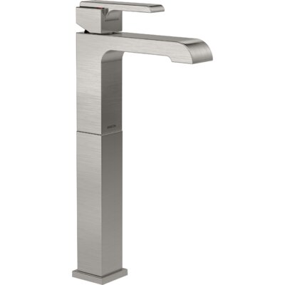 Ara Single Handle Centerset Lavatory Faucet with Riser Finish: Brilliance Stainless