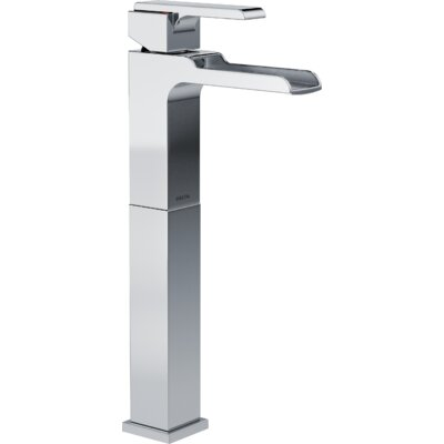 Ara Single Handle Centerset Lavatory Faucet with Riser and Channel Spout Finish: Chrome