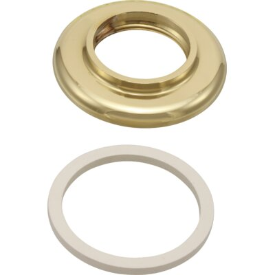 Replacement Base with Gasket for Bidet Finish: Brilliance Polished Brass
