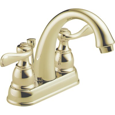 Windemere Centerset Bathroom Faucet with Metal Pop-Up Drain Finish: Brilliance Polished Brass