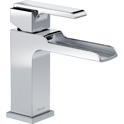 Ara Single Hole Single Handle Waterfall Faucet Finish: Chrome
