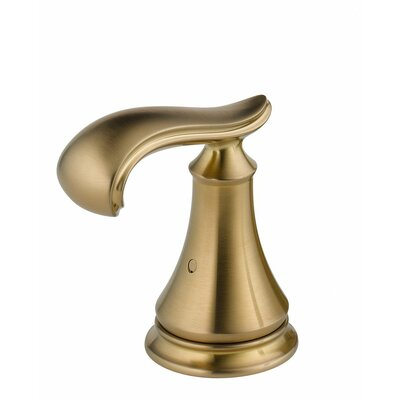Cassidy Two French Curve Bath Roman Tub Handle Kit Finish: Brilliance Champagne Bronze