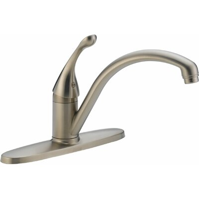 Collins Single Handle Centerset Kitchen Faucet Finish: Brilliance Stainless