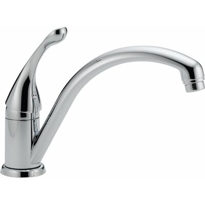 Collins Single Handle Deck Mounted Kitchen Faucet Finish: Chrome