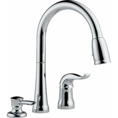 Kate Pull Down Single Handle Kitchen Faucet Finish: Chrome