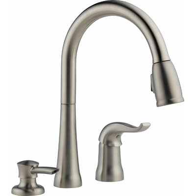 Kate Single Handle Deck Mounted Kitchen Faucet with Soap Dispenser Finish: Brilliance Stainless