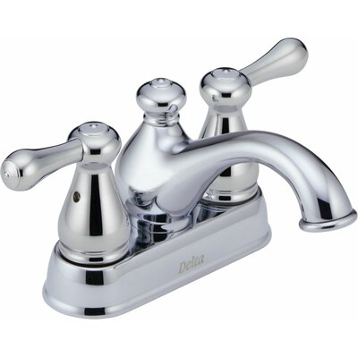 Leland Centerset Bathroom Faucet with Double Lever Handles Finish: Chrome