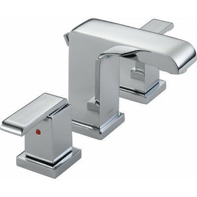 Arzo Series Bathroom Faucet with Double Lever Handles Finish: Chrome