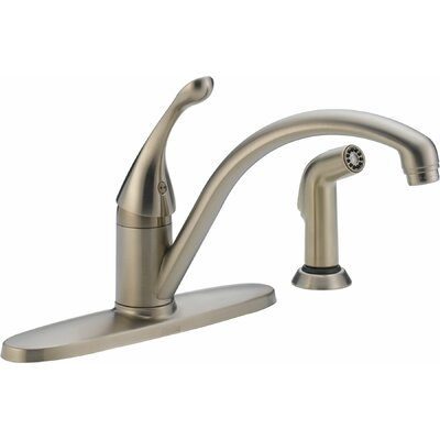 Collins Single Handle Centerset Water Efficient Kitchen Faucet with Spray Finish: Brilliance Stainless