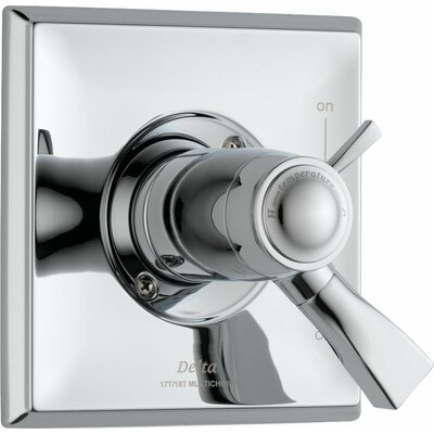 Dryden Thermostatic Tub and Shower Faucet Lever Finish: Chrome
