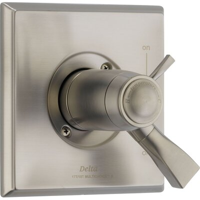 Dryden Thermostatic Tub and Shower Faucet Lever Finish: Brilliance Stainless