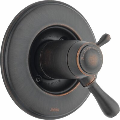 TempAssure Volume Control Faucet Trim with Lever Handles Finish: Venetian Bronze