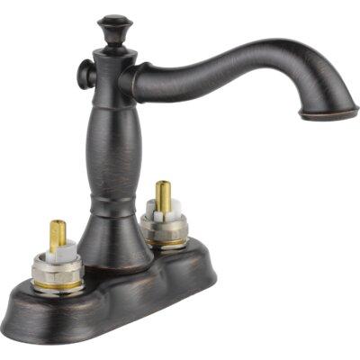 Cassidy Double Handle Centerset Bathroom Faucet with Metal Pop-Up Finish: Venetian Bronze