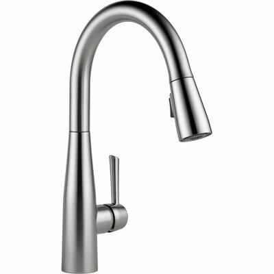 Essa Single Handle Pull Down Standard Kitchen Faucet Finish: Arctic Stainless