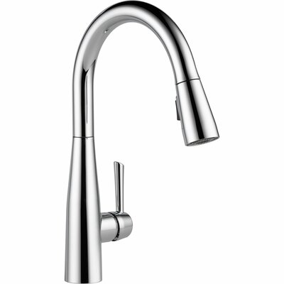 Essa Single Handle Pull Down Standard Kitchen Faucet Finish: Chrome