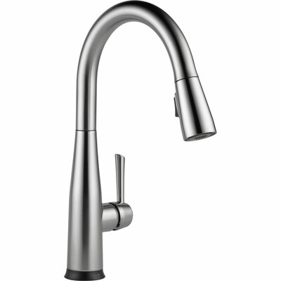 Essa Pull Down Touch Single Handle Kitchen Faucet with LED Light Finish: Arctic Stainless