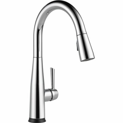 Essa Single Handle Pull Down Standard Kitchen Faucet with Touch2O� Finish: Chrome