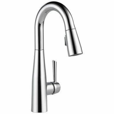 Essa Single Handle Pull Down Bar Faucet Finish: Chrome